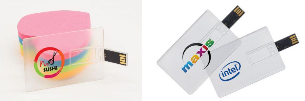 Promotional Transparent Card Sized USB