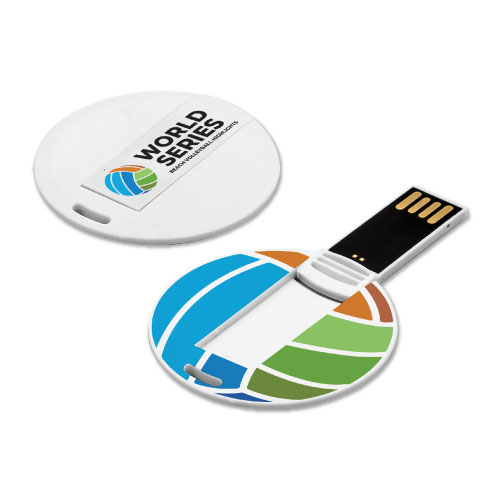 Promotional Mini Round Shaped Card USB